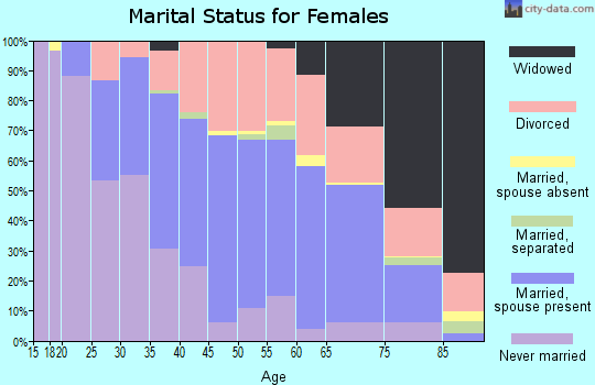 Zip code 05201 marital status for females