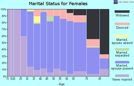 Zip code 06070 marital status for females
