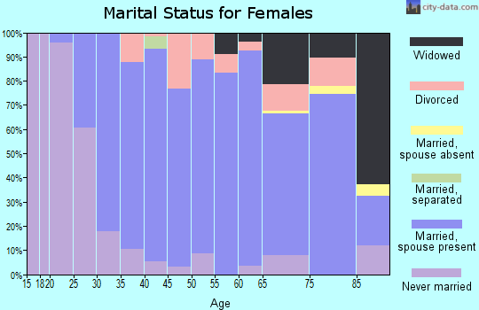 Zip code 06084 marital status for females