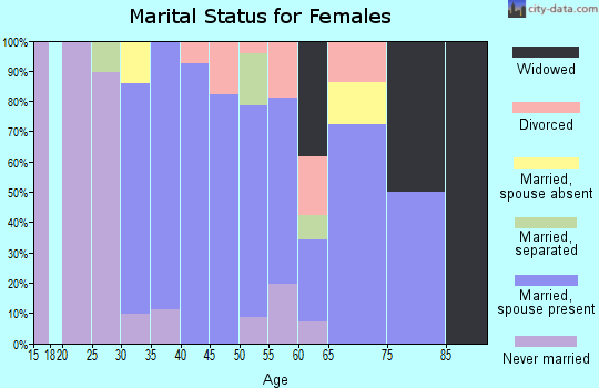 Zip code 06089 marital status for females