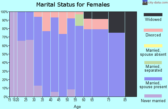 Zip code 06242 marital status for females