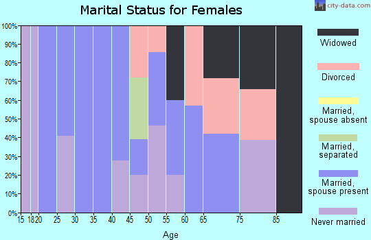 Zip code 06256 marital status for females