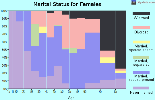 Zip code 06260 marital status for females