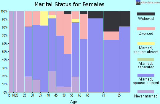 Zip code 06335 marital status for females