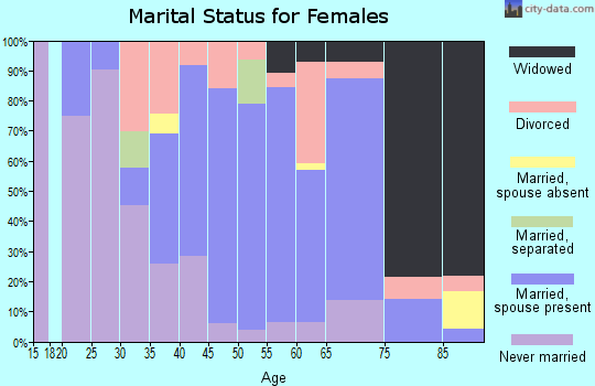 Zip code 06412 marital status for females