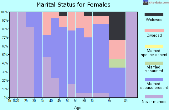Zip code 06417 marital status for females