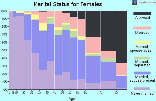 Zip code 06606 marital status for females