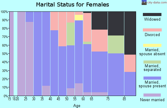 Zip code 06853 marital status for females