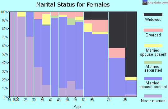 Zip code 06903 marital status for females