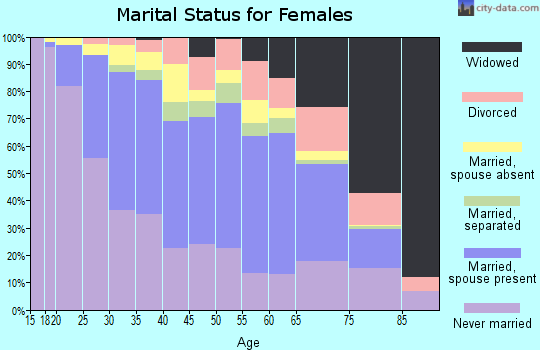 Zip code 07306 marital status for females