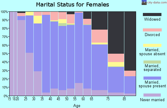Zip code 07675 marital status for females