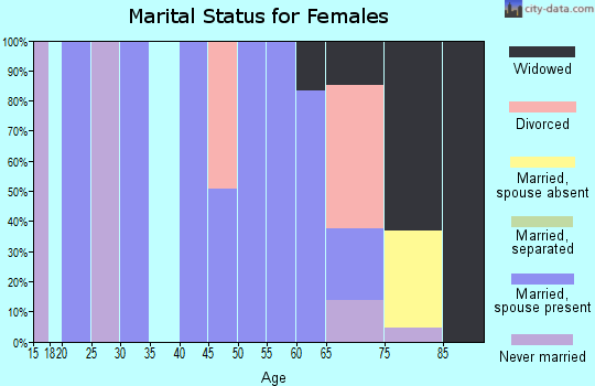 Zip code 07980 marital status for females