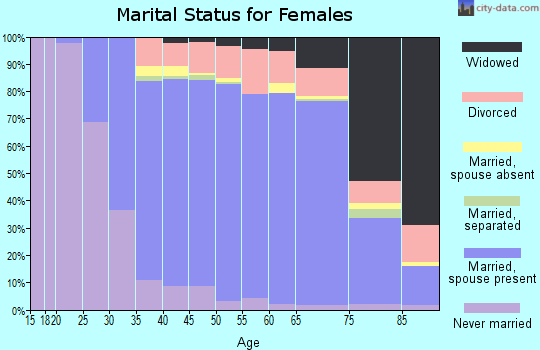 Zip code 08003 marital status for females