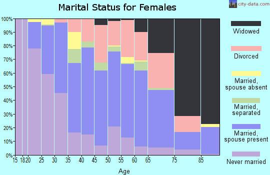 Zip code 08052 marital status for females