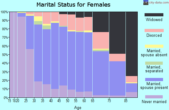 Zip code 08053 marital status for females
