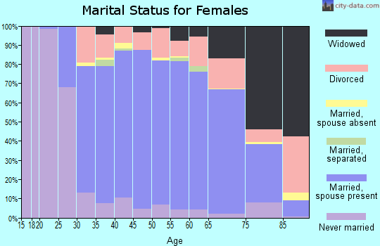 Zip code 08055 marital status for females