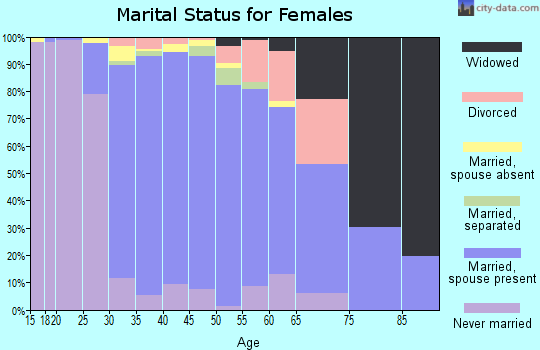 Zip code 08062 marital status for females