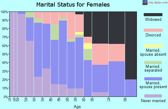 Zip code 08063 marital status for females