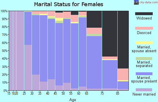 Zip code 08077 marital status for females