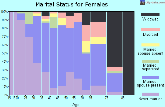 Zip code 08089 marital status for females