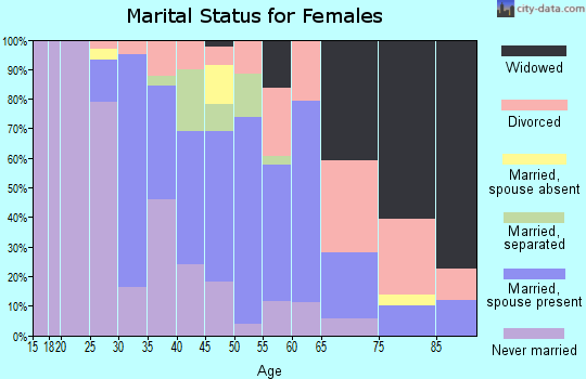 Zip code 08093 marital status for females