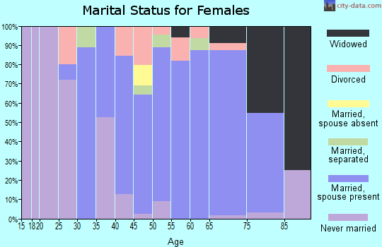Zip code 08241 marital status for females