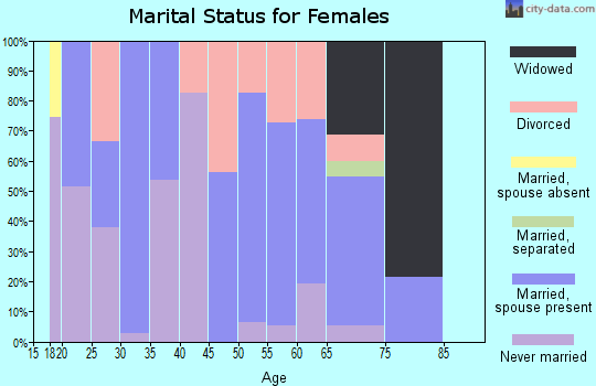 Zip code 08242 marital status for females