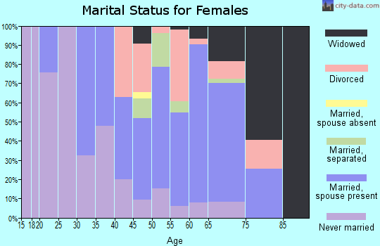 Zip code 08732 marital status for females