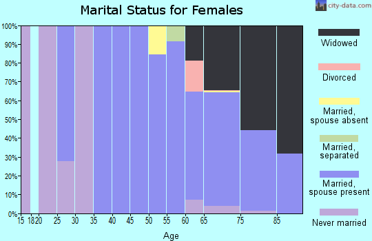 Zip code 08738 marital status for females