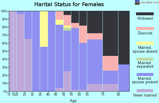 Zip code 08741 marital status for females