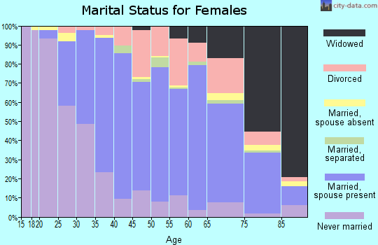 Zip code 08742 marital status for females
