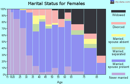 Zip code 08863 marital status for females