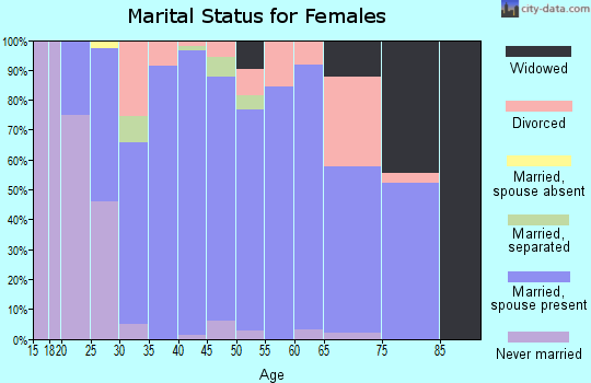 Zip code 08867 marital status for females