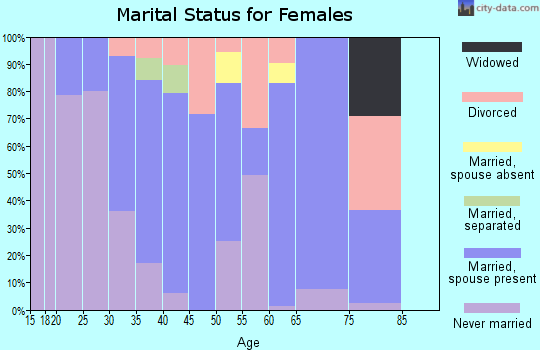 Zip code 10007 marital status for females