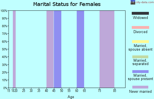 Zip code 10519 marital status for females