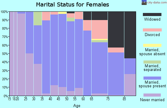 Zip code 10538 marital status for females