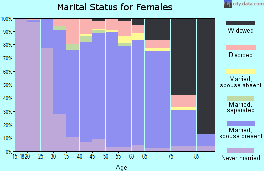 Zip code 10541 marital status for females