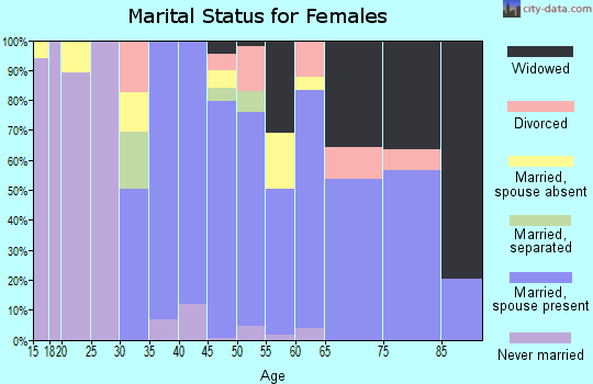 Zip code 10916 marital status for females