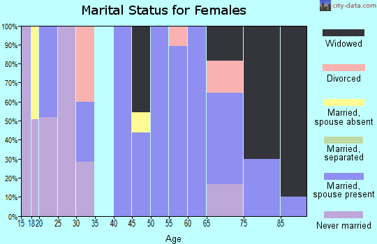 Zip code 10917 marital status for females