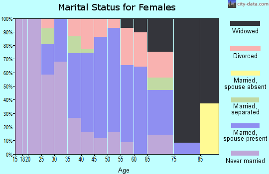 Zip code 10928 marital status for females