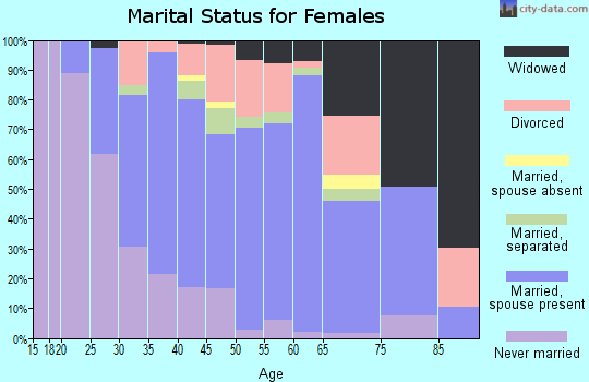 Zip code 10941 marital status for females
