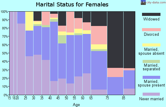 Zip code 10960 marital status for females