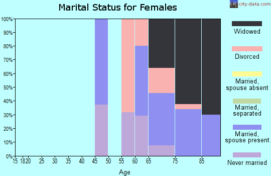 Zip code 11005 marital status for females