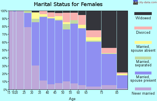 Zip code 11040 marital status for females