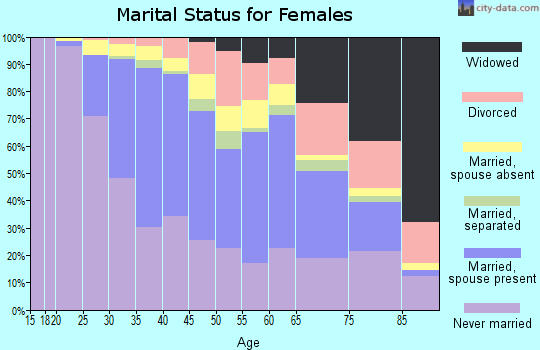 Zip code 11201 marital status for females