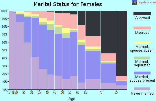 Zip code 11385 marital status for females