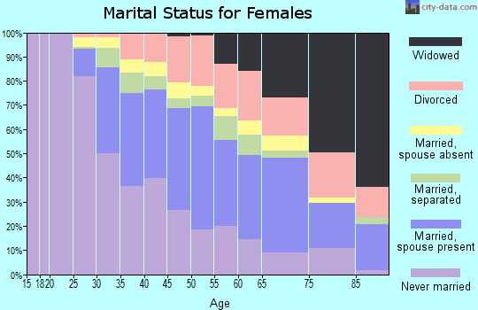 Zip code 11413 marital status for females
