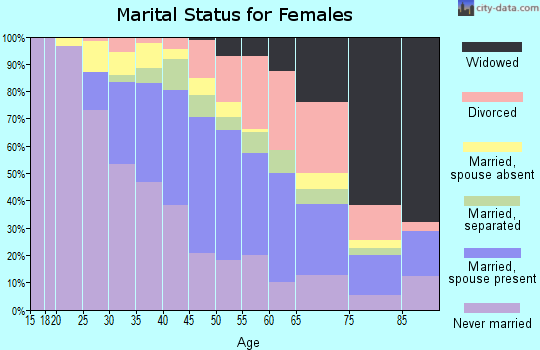 Zip code 11422 marital status for females