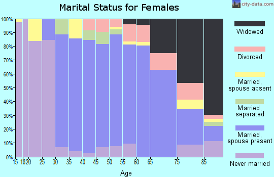 Zip code 11577 marital status for females