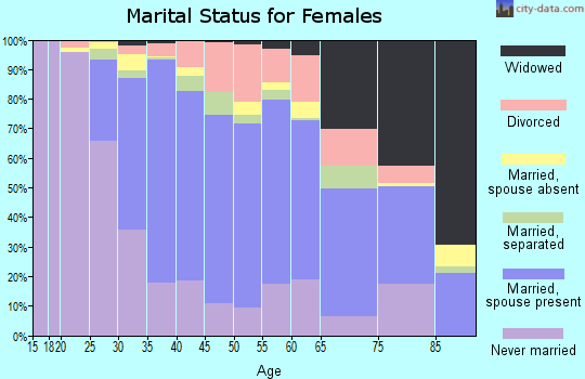 Zip code 11580 marital status for females